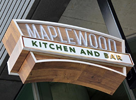 Sign outside of Maplewood Kitchen and Bar